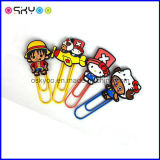 Promotional poison of silicones softly PVC Bookmark PAPER tie-clip (SCB008)