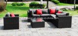 屋外の庭の柳細工の藤の家具のコーナーのソファーの経済的なラウンジセット