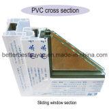 Верхнее продавая окно Casement цены UPVC высокого качества дешевое