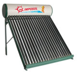 Calentador de agua solar eficiente nueva no presurizada
