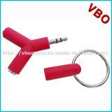 Förderung-Geschenke Minio formten der 2 Möglichkeits-Kopfhörer-Teiler-Musik-Teiler