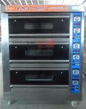 3 de Oven van het Dek van de Deur van het Glas van het Gas van lagen en van 6 Dienbladen (zba-306M)