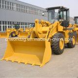 La planta concreta Uso del cargador, para la carga de materiales
