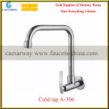 Установленный стеной санитарный кран смесителя холодной воды кухни изделий