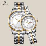 Horloge voor Paar met 2-tonen Band 70025 van het Roestvrij staal