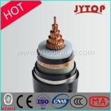 cabo distribuidor de corrente da isolação do cobre XLPE do núcleo da tensão 3.6/6kv média único
