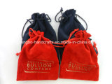 Kundenspezifische schwarze Samt-Schmucksache-Tasche-Beutel