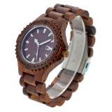 OEM Ebbehouten Horloge van de Manier van het Horloge van Mannen en van Vrouwen het Houten