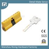 Seguridad de cobre amarillo abierta Rx-27 de la perilla de Cylinde de la cerradura de puerta