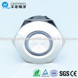 Переключатель кнопка нержавеющей стали 12V 2no2nc/1no1nc кольца Qn30-A1 30mm