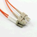 LCScマルチモードデュプレックス光ファイバケーブル