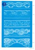 Merletto non elastico per vestiti/indumento/pattini/sacchetto/caso F262 (larghezza: 1.4CMM a 24cm)