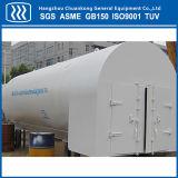 tanque criogênico horizontal de GNL do CO2 do oxigênio 10m3 líquido com sela