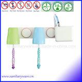 Organizador do suporte do Toothbrush do copo da sução com cremalheira do dentífrico