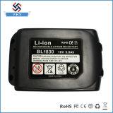 Batterij van het Hulpmiddel van de Macht van de Vervanging van de Boor Bl1830 18V 3.0 Ah Rechargwable van Makita de Draadloze Li-Ionen
