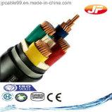 6/10kv cable de transmisión de cobre del conductor XLPE