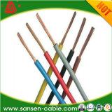 El alambre eléctrico 2.5m m barato de H07V-U 1.5m m nombra colores
