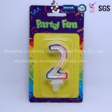 Vela amarilla sin humo del cumpleaños de la alta calidad profesional del producto de China