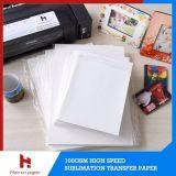 Papier de transfert anticourbure de sublimation de taille de la feuille A3/A4 pour la tasse/surface dure/tapis de souris/puzzle