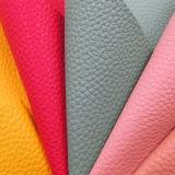 Spitzenverkauf Lichee Microfiber synthetisches Leder für Schuhe bauscht sich (HS-Y12)