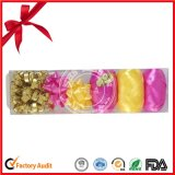 Huevo de la cinta de encargo colorido con de plástico transparente para la Navidad