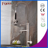 Fyeer New Nickle Brushed Pull Down Spray Faucet de pia de cozinha