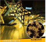 Étoile/Pentagram de fer de lumière de chaîne de caractères de l'énergie solaire 30-LED pour la Neuf-Année Lh-Ss20 de mariage de Noël