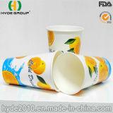 ジュースのための12oz高品質の使い捨て可能で冷たい飲み物の紙コップ