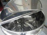 4つの車輪が付いているステンレス鋼の混合タンクを熱するジャケット