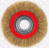 Spazzola di lucidatura della tazza della rotella del collegare dell'acciaio inossidabile