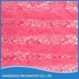 Tela do laço da cor-de-rosa quente, tela do laço de Rosa, tela de seda do laço