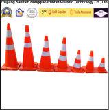 十分の36インチの安全円錐形の蛍光オレンジPVC