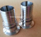 Acoplador de manguito sanitario de la instalación de tuberías de acero inoxidable