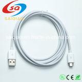 [USB Cable High Speed USB 2.0에 Micro 스퀘어 01] USB Android, Samsung, HTC, Nokia, Nexus 및 More를 위한 Micro B에 Male (White와 검정)