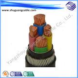 Cable de la energía eléctrica del conductor del cobre de la baja tensión