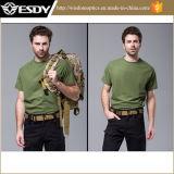 Camiseta de secado rápido del collar redondo sólido al aire libre militar de la manera del verano de los hombres