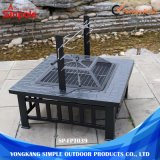 Professional Multi-Function Garden Square Outdoor Fire Pit com mesa