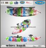 Não inflável único barco de pá de plástico