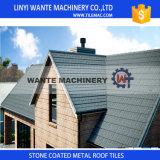 石造りチップ上塗を施してある金属の屋根シートのタイル