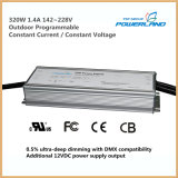 Externo Programável Dimmable Constante Corrente LED Driver 320W 142 ~ 228V