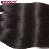 Extensão de seda brasileira preta natural por atacado do cabelo reto de cabelo humano