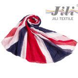 Bandera Nacional Británico impresión del modelo de la bufanda -2