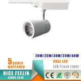 luz 5-Year da trilha do teto do diodo emissor de luz da ESPIGA da garantia CRI>80/90 com o excitador Certificated Ce dos CB do TUV SAA