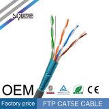 Câble du réseau de transmission de ftp Cat5e de prix usine de Sipu pour l'Ethernet