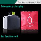 人間の特徴をもつiPhoneジャックの使い捨て可能な充電器1000mAh緊急時の移動式力バンク