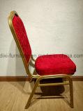 Металл новой гостиницы венчания конструкции случая золотистый обедая стул