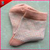 Calcetín grueso de Terry del poliester del invierno para la muchacha