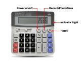 Gravador de vídeo da câmera da calculadora mini