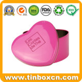 Heart-Shaped коробка конфеты олова, помадки жестяная коробка, коробка олова шоколада