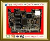 Tarjeta de múltiples capas del PWB del prototipo de la tarjeta de circuitos impresos de los orificios del ajuste de prensa de la electrónica del OEM 2-28 para la electrónica TV Mainboard